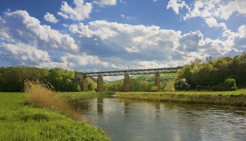 铁路桥 库存例证
