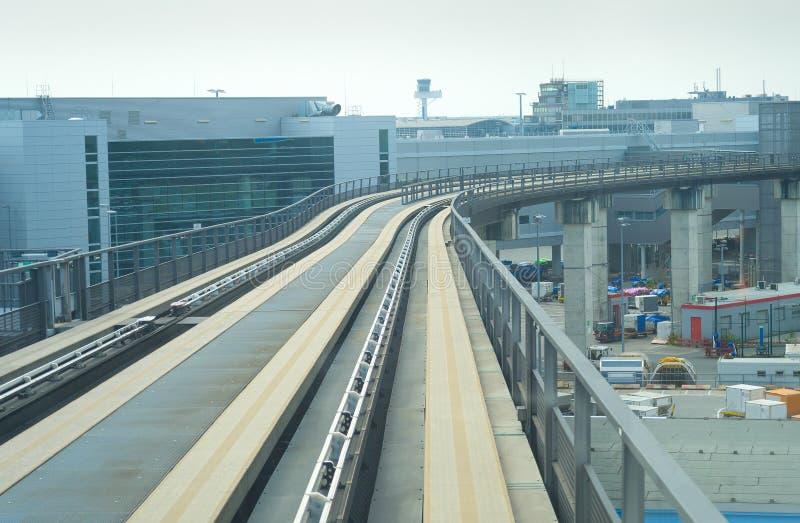 铁路现代运输火车机场 库存照片