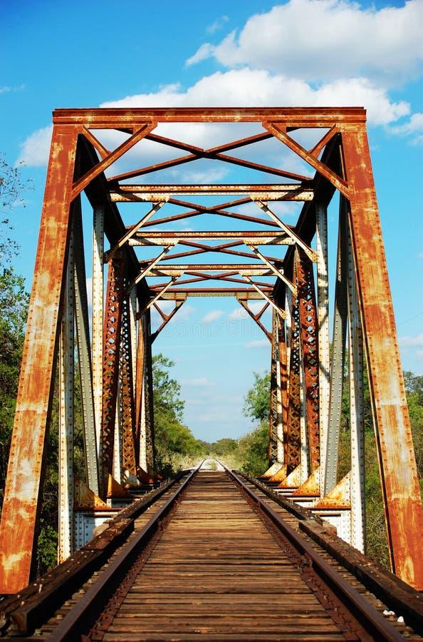 铁路生锈的跟踪 库存照片