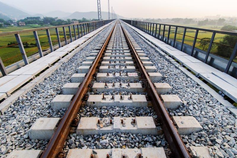 铁路的建筑 免版税图库摄影