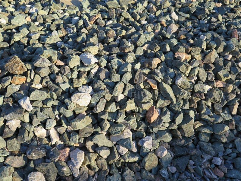 铁路石碴 免版税库存照片