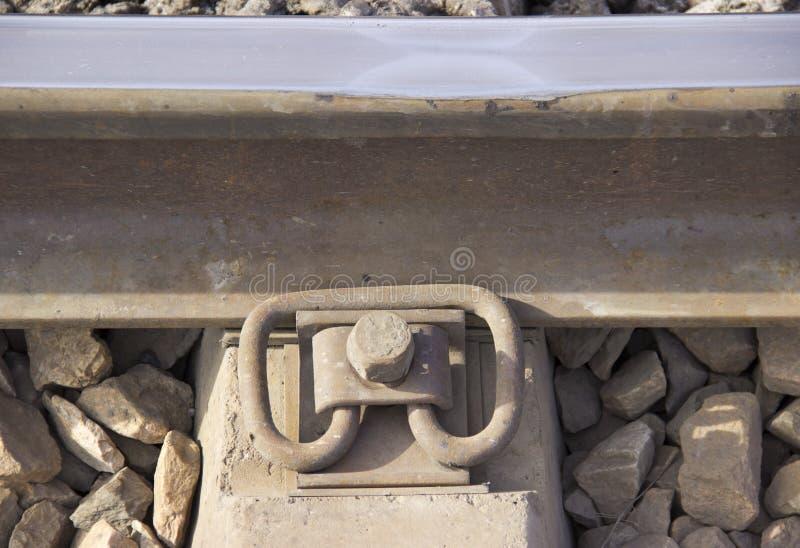 铁路紧固  免版税库存照片