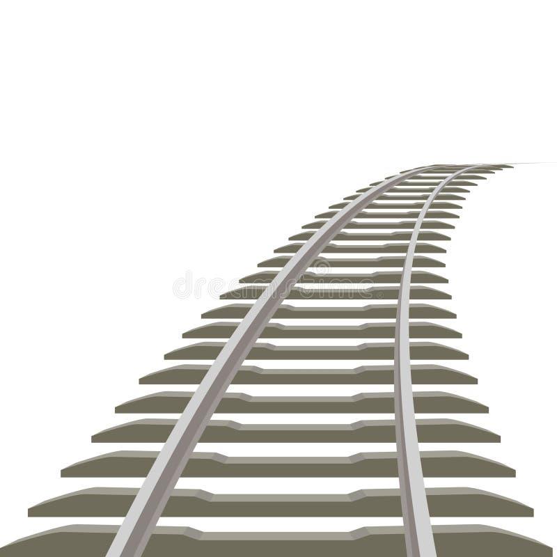 铁路线 向量例证