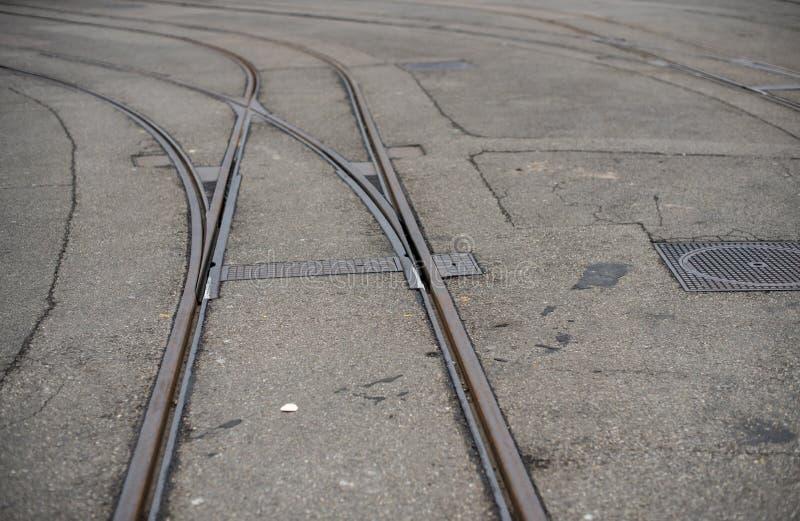 铁路线 Colse 免版税库存图片