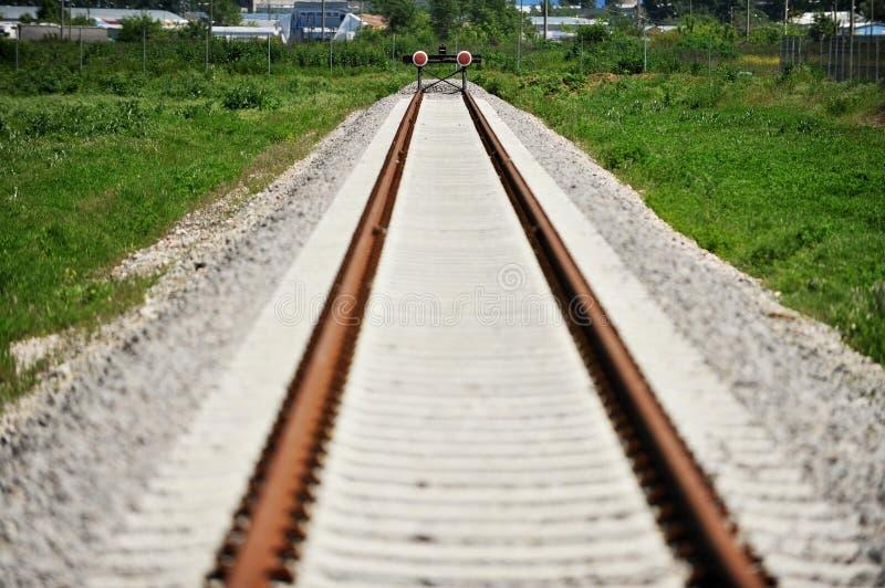 铁路缓冲桩 免版税图库摄影
