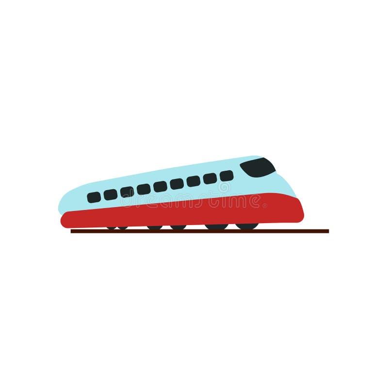 铁路象在白色背景隔绝的传染媒介标志和标志,铁路商标概念 向量例证