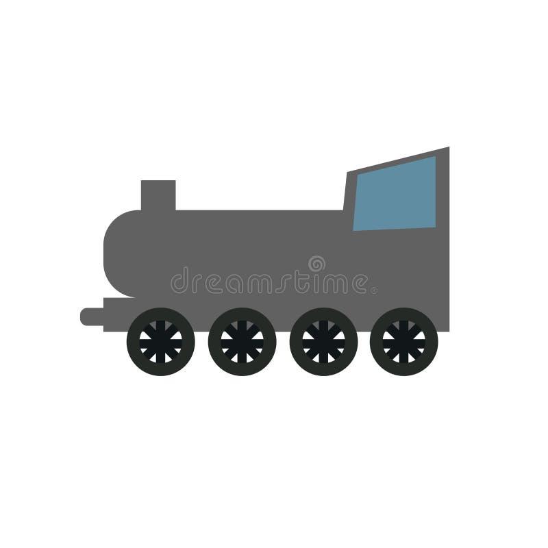 铁路象在白色背景隔绝的传染媒介标志和标志,铁路商标概念 皇族释放例证