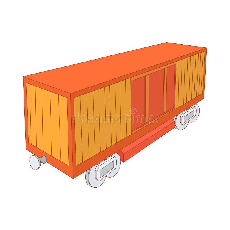 铁路货箱象,动画片样式 皇族释放例证