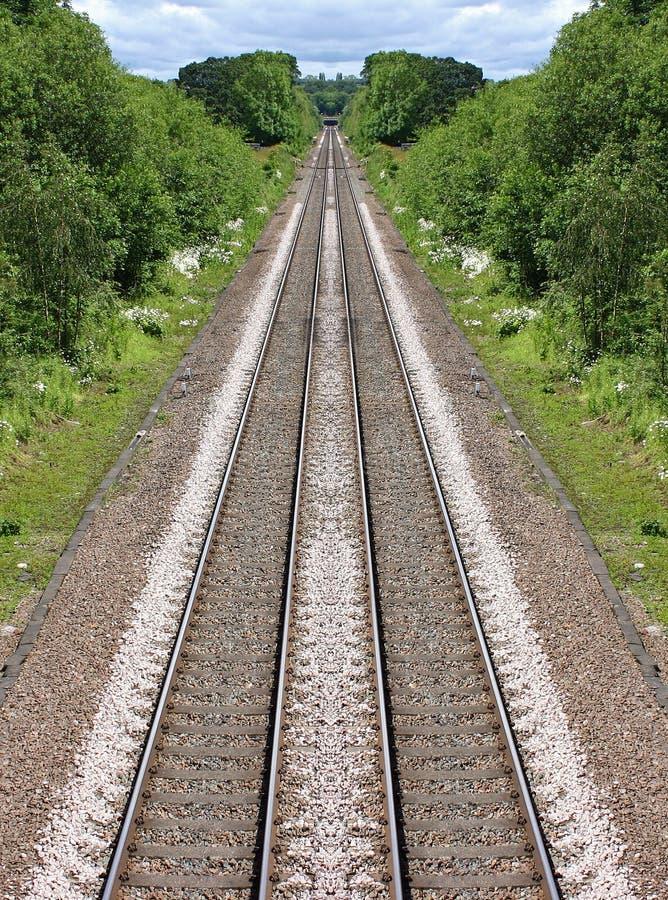 铁路距离的线路 库存照片