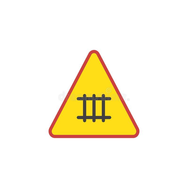 铁路路标平的象 向量例证