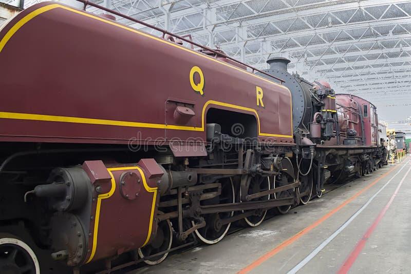 铁路车间在昆士兰 库存图片