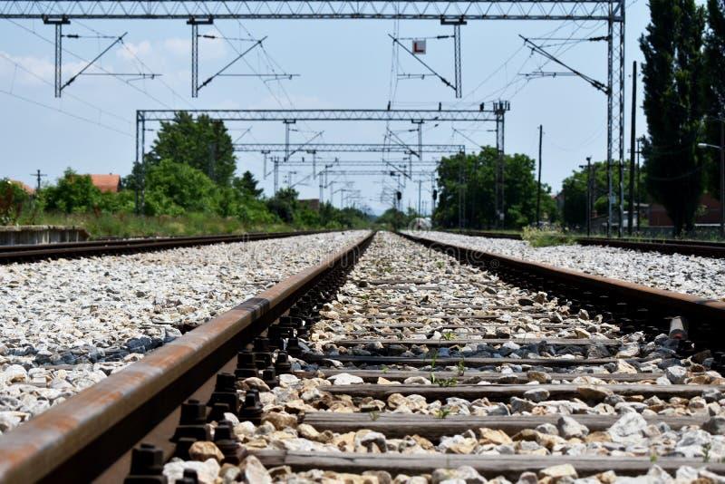 ?? 铁路轨道今后方式 免版税库存照片