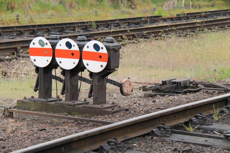 铁路轨道点 免版税库存图片