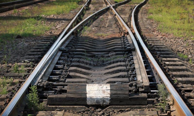 铁路轨道的片段 库存图片
