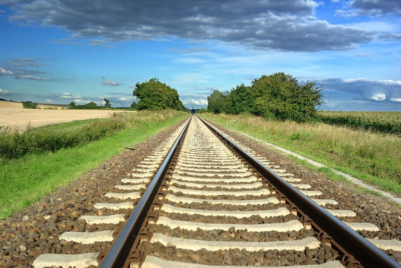 铁路轨道 图库摄影