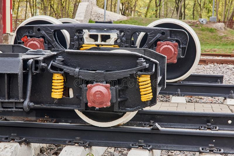 铁路轮子无盖货车 图库摄影