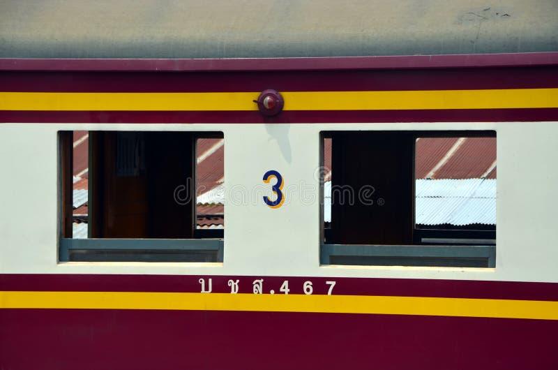 铁路运输在泰国 免版税库存照片