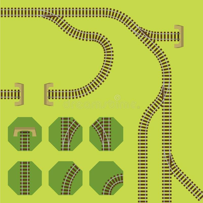 铁路运输细分市场 免版税库存照片