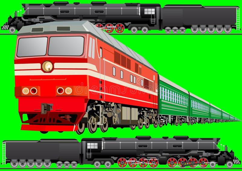 铁路运输 库存例证