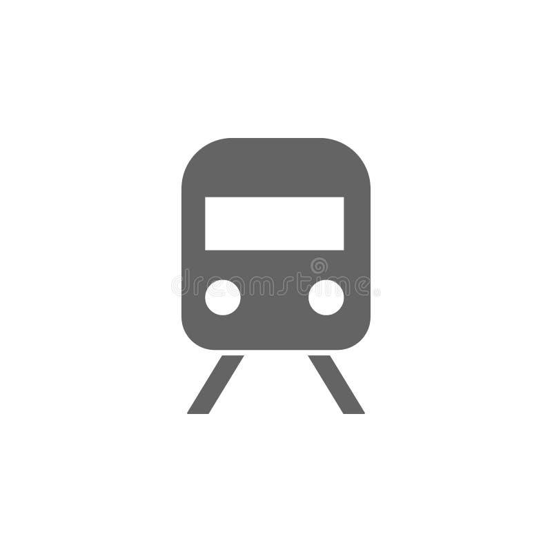 铁路,地铁,火车象 简单的运输象的元素 r r 向量例证