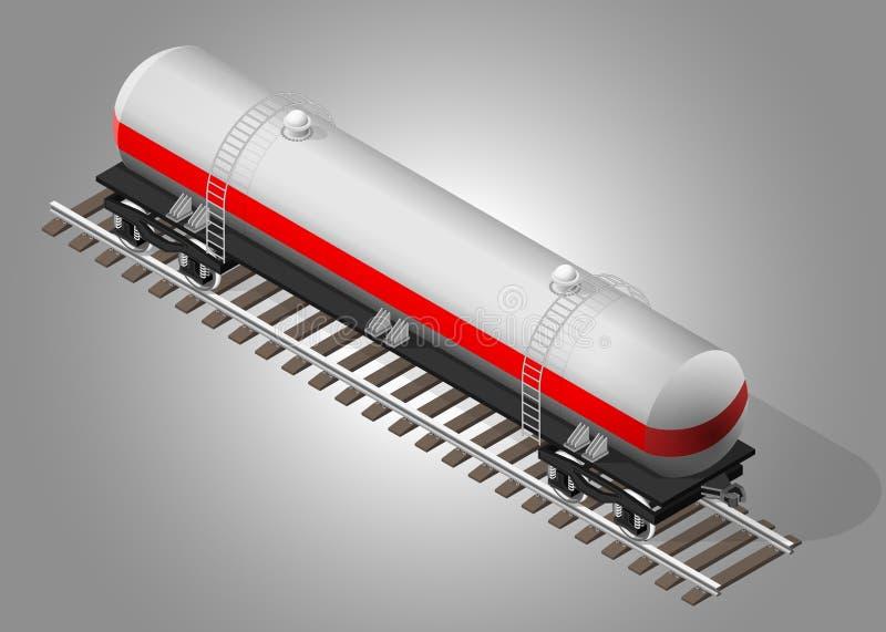 铁路货物运输 向量例证
