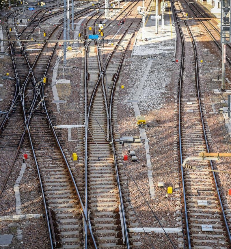 铁路pointwork,铁路轨道,高速路轨 库存照片