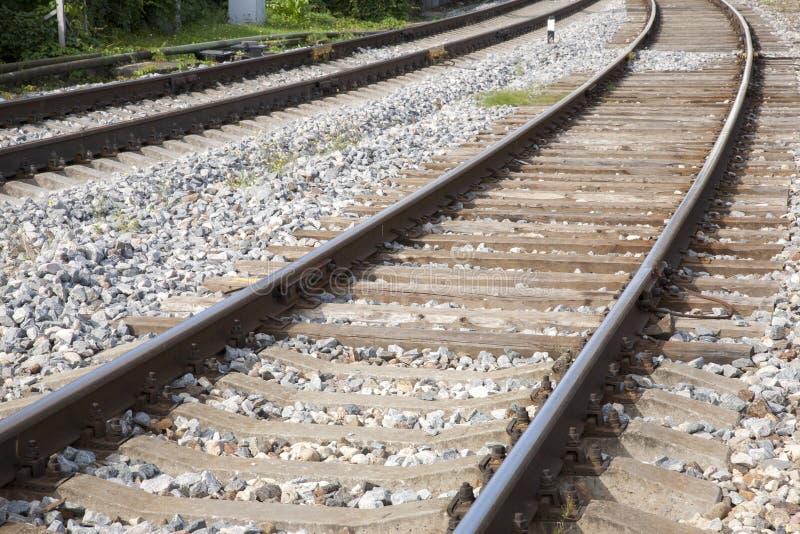 铁轨和平台,里加 免版税库存图片