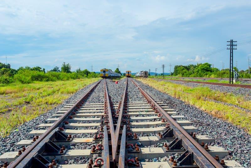 铁轨,铁路运输,产业,铁-金属 库存图片