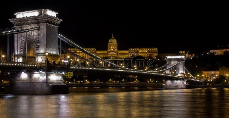 铁锁式桥梁布达佩斯 库存照片