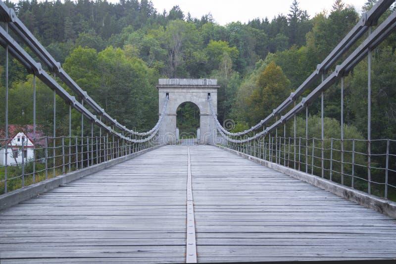 铁锁式桥梁 免版税库存照片