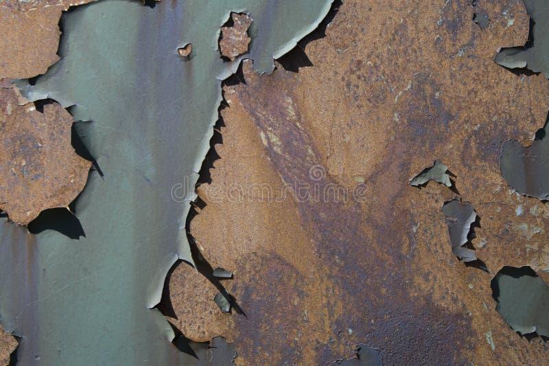 铁锈和削皮油漆背景 库存图片