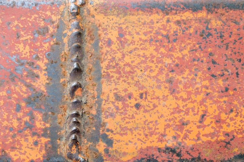 铁锈金属难看的东西纹理背景困厄的墙纸 免版税图库摄影