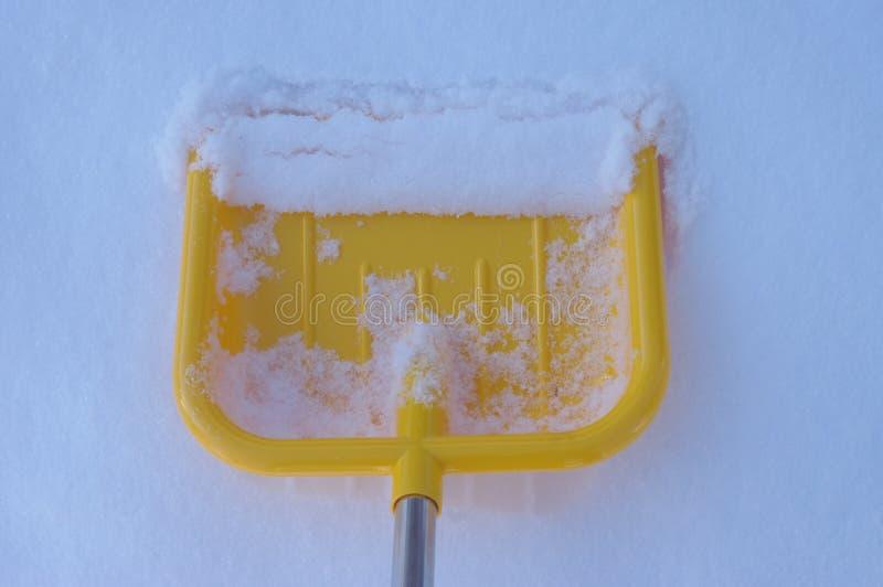 铁锹雪冬天 图库摄影
