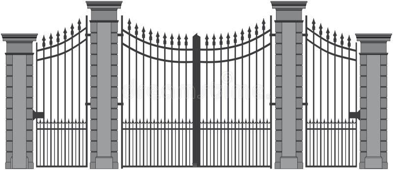 铁门6 向量例证