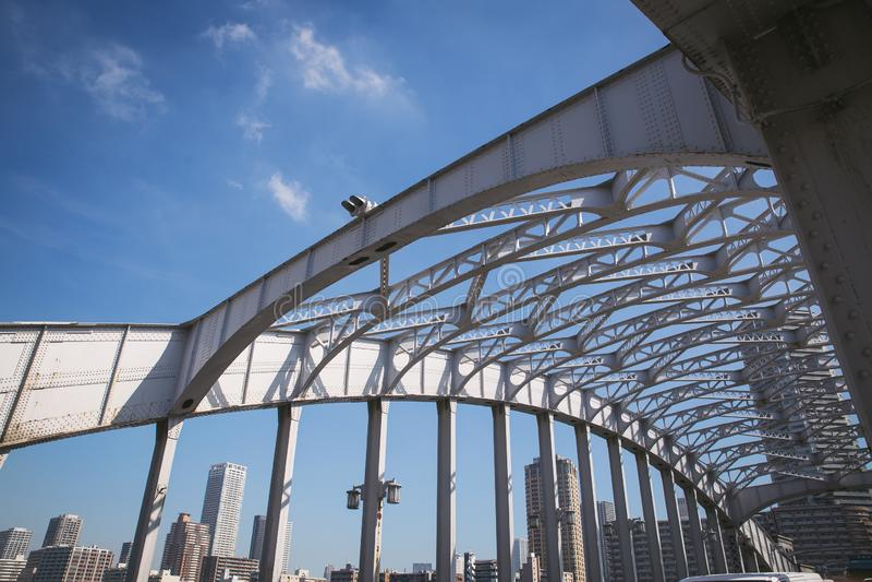 铁brige在东京 库存图片