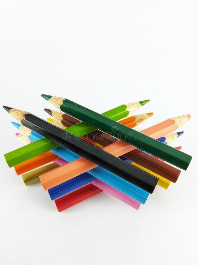 铅笔上色菱形 库存照片