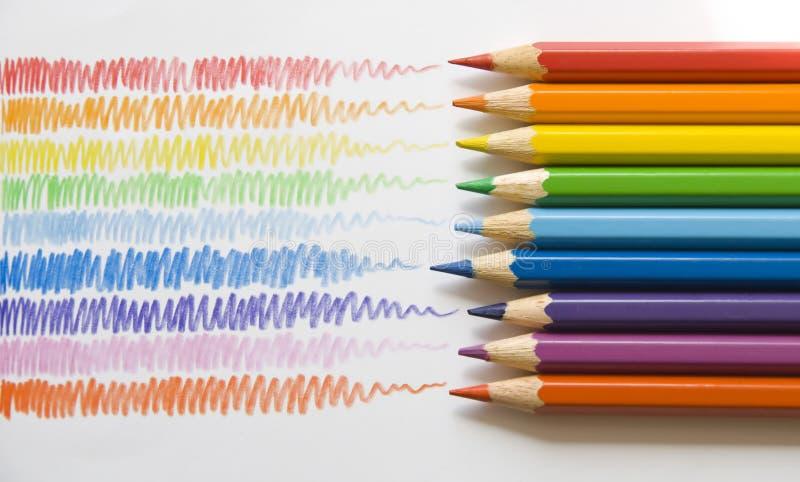 铅笔冲程 免版税库存图片