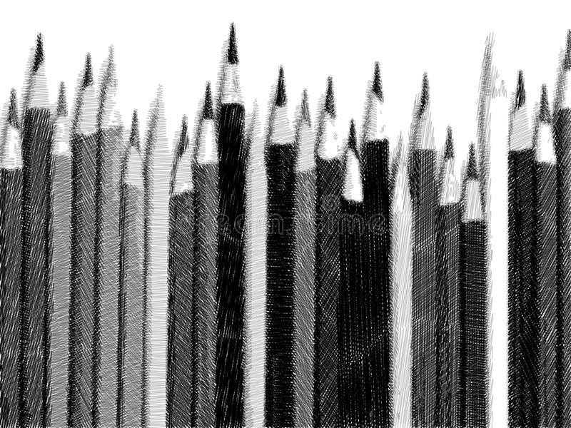 铅笔剪影  库存图片