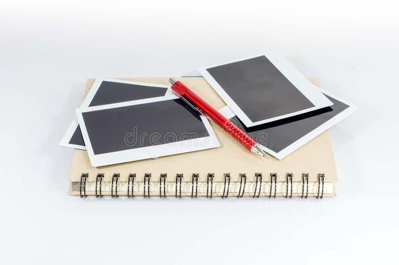 铅笔和人造偏光板影片 图库摄影