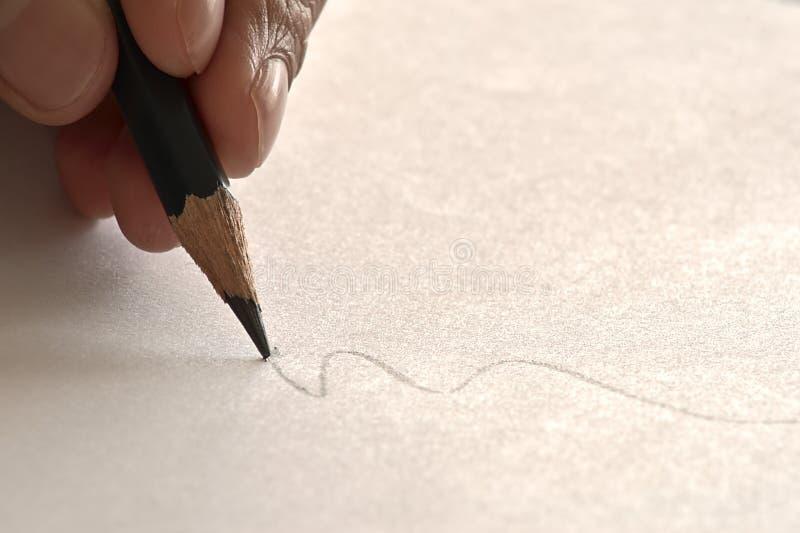 铅笔和凹道 免版税库存照片