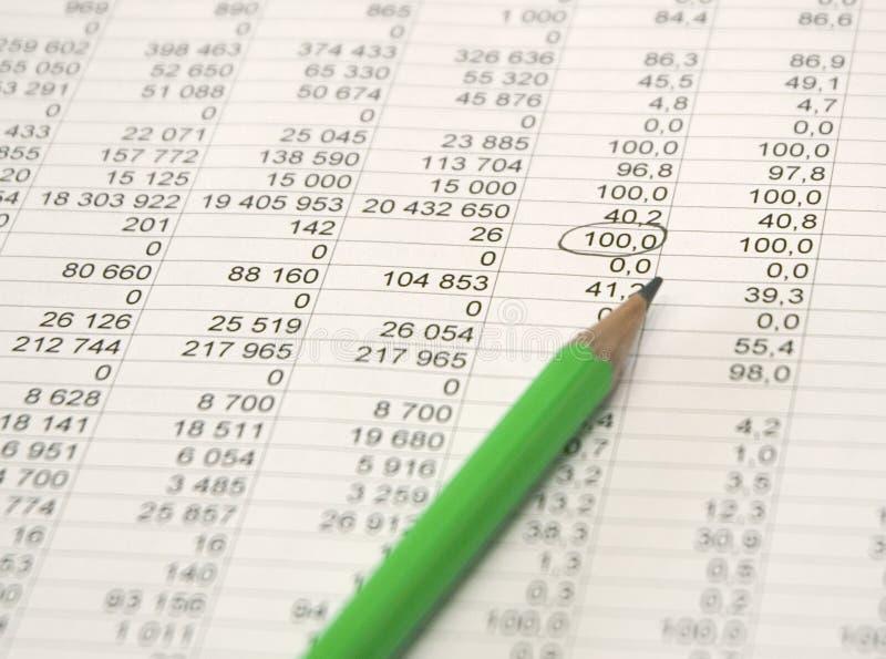 铅笔和图 免版税库存照片