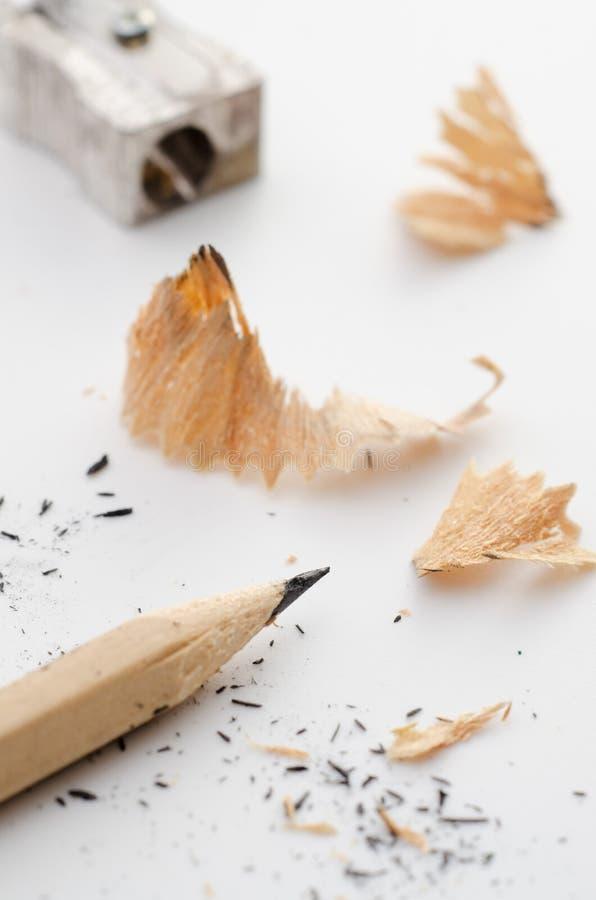 铅笔和磨削器 免版税库存照片