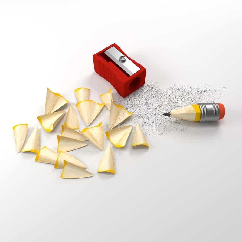 铅笔和磨削器 向量例证