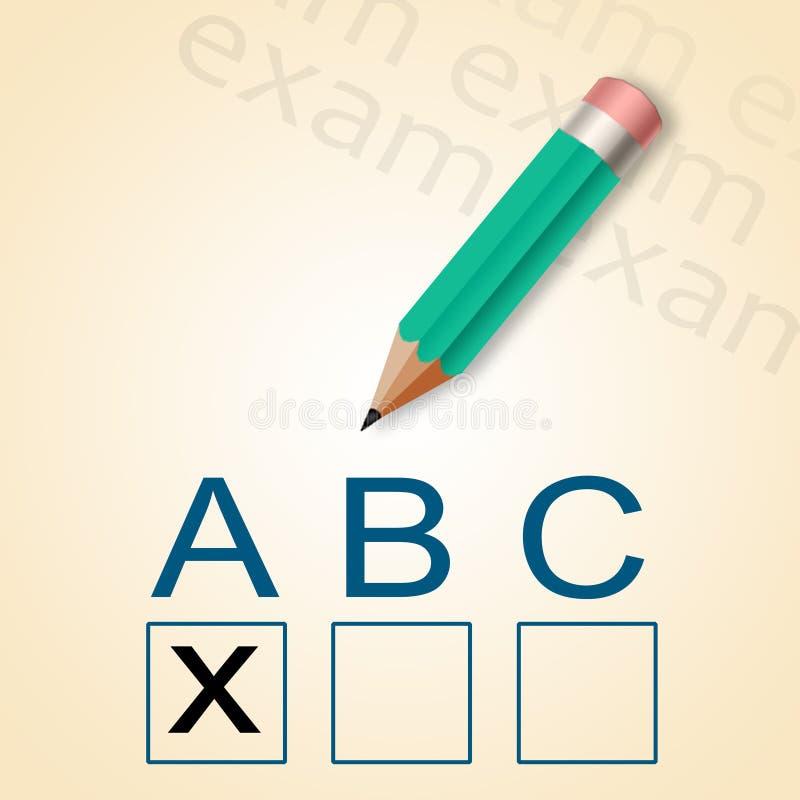 铅笔和ABC测试 库存例证
