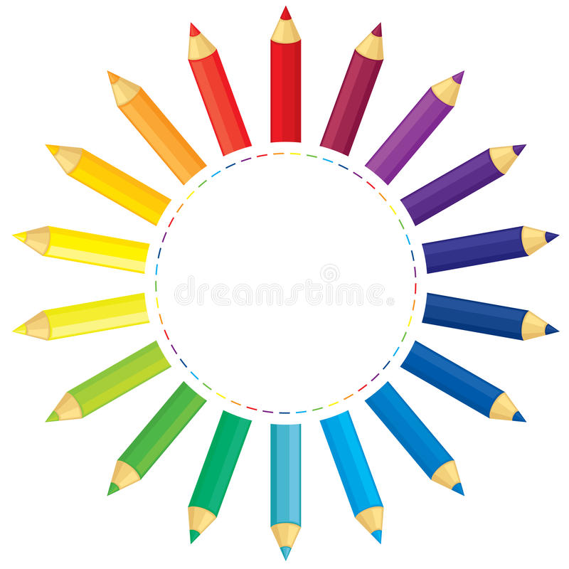 铅笔太阳 向量例证