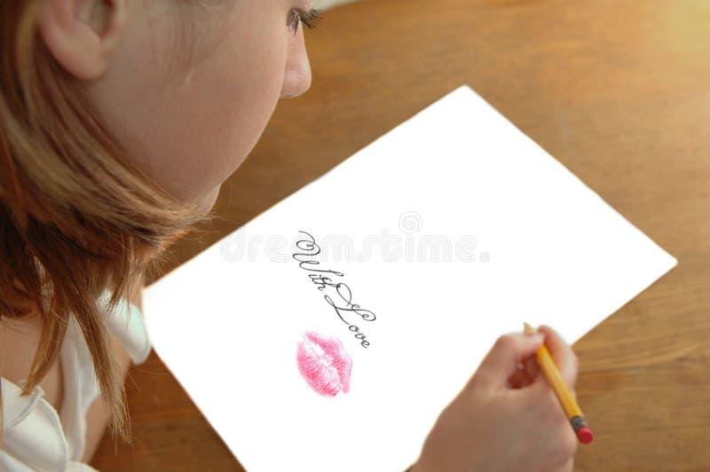 铅笔妇女年轻人 库存照片