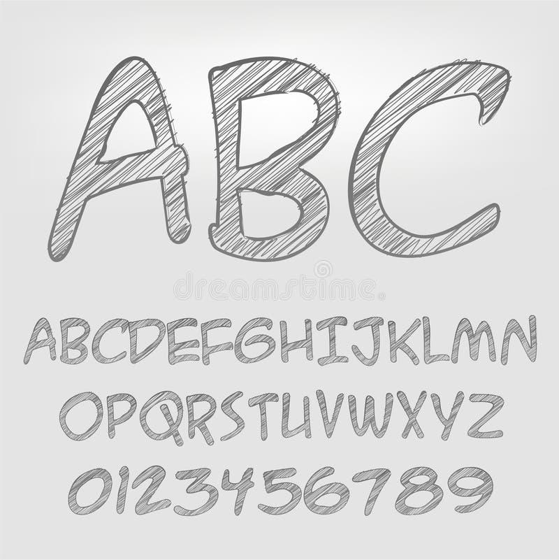 铅笔字母表 免版税库存照片