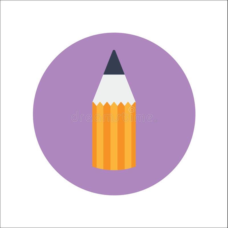 铅笔平的象传染媒介 库存例证