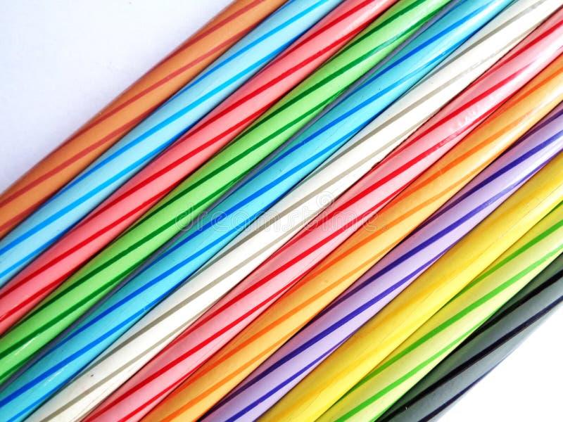 铅笔彩色组 库存照片