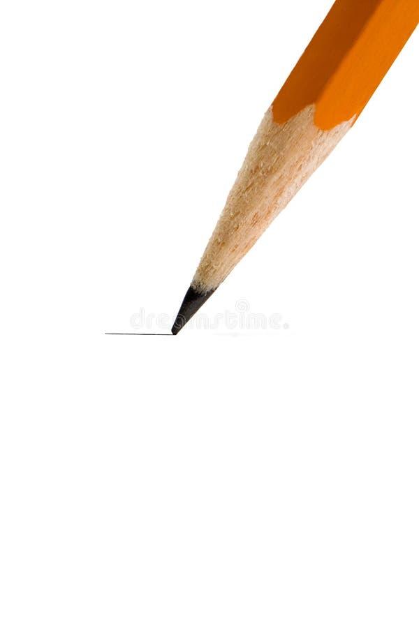 铅笔文字 库存图片